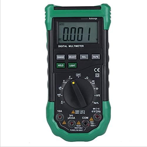 JHYS Multímetro de Rango automático, multímetro Digital Voltímetro de Rango automático de Mano Probador de medidor de Potencia Multiusos