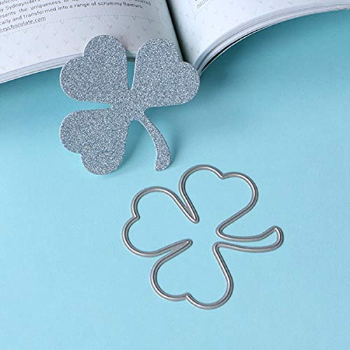 ShineBear 030152 Shamrock Leaves Stencil Metal Cutting Dies for DIY papercraft Project Scrapbook Paper Album Greeting Cards - (Color: Large)
