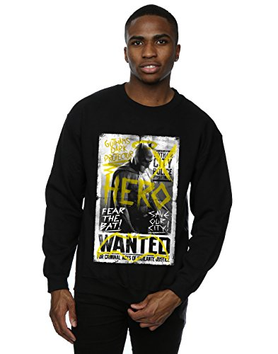 DC Comic Homme Batman v Superman Wanted Poster Sweat-Shirt Small Noir
