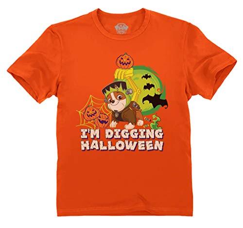 Paw Patrol Rubble Digging Halloween Official Toddler Kids Toddler Kids T-Shirt 5/6 Orange