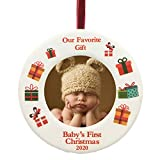 BANBERRY DESIGNS 2020 Dated Baby's First Christmas Ornament - Babies Picture Frame Holiday Ornament...