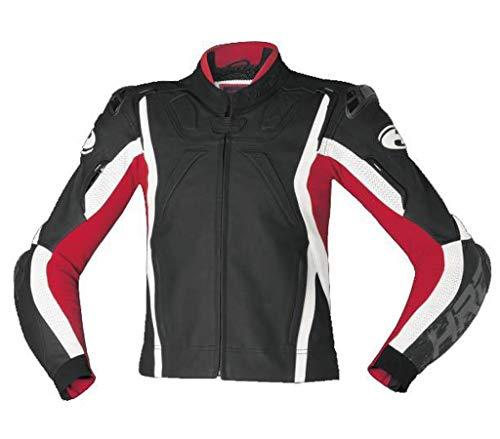 Held Road Jacke Motorrad Kombijacke Lederjacke rot schwarz weiß Gr.56