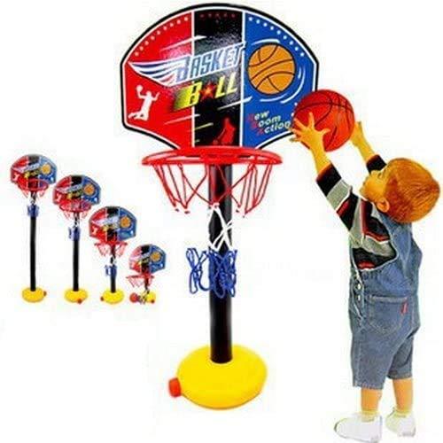 OurKosmos® Einstellbare Kinder Kinder Junior Basketballkorb und Standballpumpe Rückenbrett Set Indoor- und Outdoor-Fun Ball Spielzeug-Aktivitäten für 3-7 Jahre Spiel ältere Kinder Sport