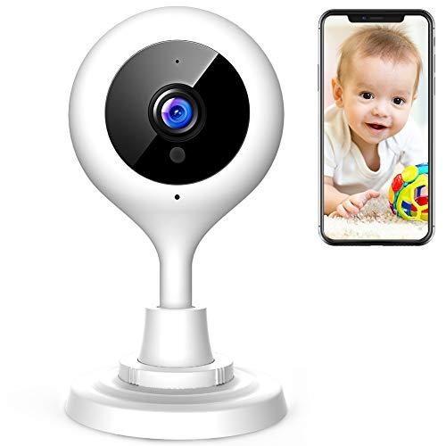 apeman 1080P Telecamera di Sorveglianza WiFi Interno, Videocamera ip Wireless, Visione Notturna a Infrarossi, Audio Bidirezionale, per Baby Monitor, Sensore di Movimento