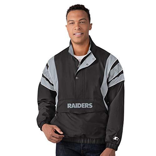 Las Vegas Raiders Starter IMPACT Half-Zip Pullover Jacket - Black/Silver (2XL)
