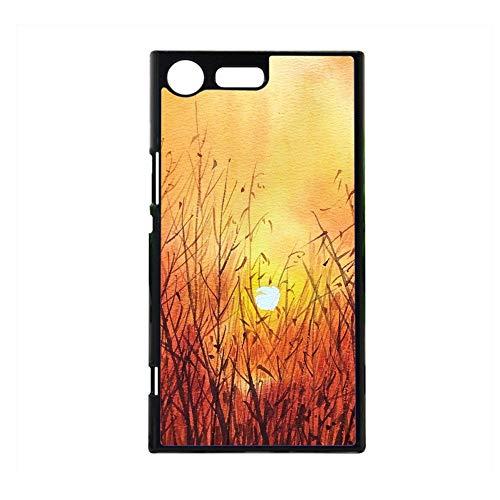 Babu Building Impresión Sunset para Niños En Sony Xperia Xz Premium Cáscara Dura del Teléfono De Los Plásticos Bonito