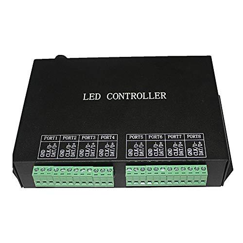 HNToolight H801RC - Controlador LED de color, controlador en línea de iluminación paisajero LED, subcontrolador de 8 puertos