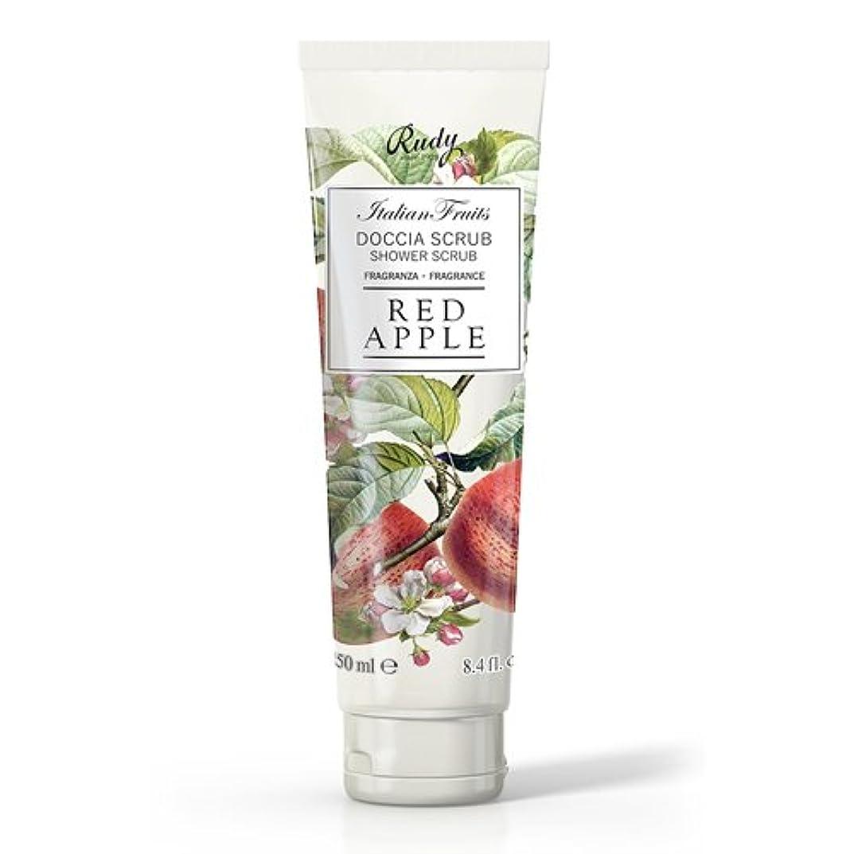 非公式シェーバークラシカルRUDY Italian Fruits Series ルディ イタリアンフルーツ Shower Scrub シャワースクラブ Red Apple
