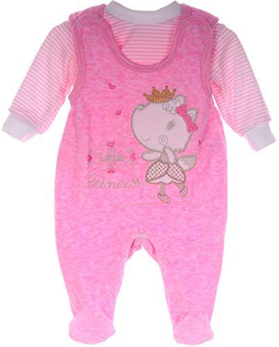Baby Strampler Set Nicki Stramplerhose Shirt 50 56 62 Rosa Anzug Reborn Newborn (50-56)