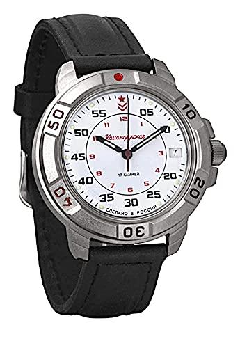 VOSTOK Komandirskie Reloj de pulsera militar de cuerda manual.