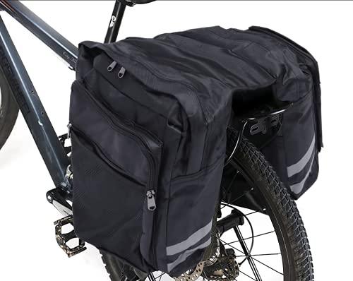 Bicycle Panniers Bag,DONGKIKI Waterproof Bicycle Rack Pack, Cycling Rear Bag, Bike Luggage Rack Bag,...