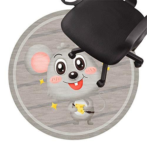 Alfombra para Silla Gaming Tapete para Silla De Oficina Alfombra De Pelo Bajo Tapete Antideslizante para Silla Tapete Protector De Piso Silencioso para Pisos De Madera Baldosa(Size:80cm/31in,Color:C)
