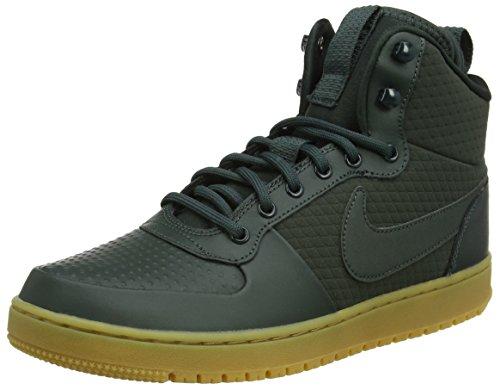 Nike Nike Herren Court Borough Mid Winter Fitnessschuhe, Mehrfarbig (Outdoor Green/Outdoor Green/Black 300), 45 EU