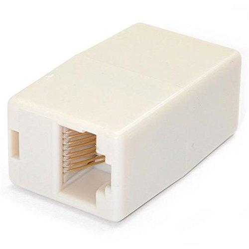 STARTECH.COM CAT RJ45 netwerkkabel koppelstuk/connector - patchkabel modulaire koppeling - bus/bus - wit