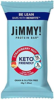 12-Pack JiMMY Keto Friendly Strawberry Nut Bar 5g