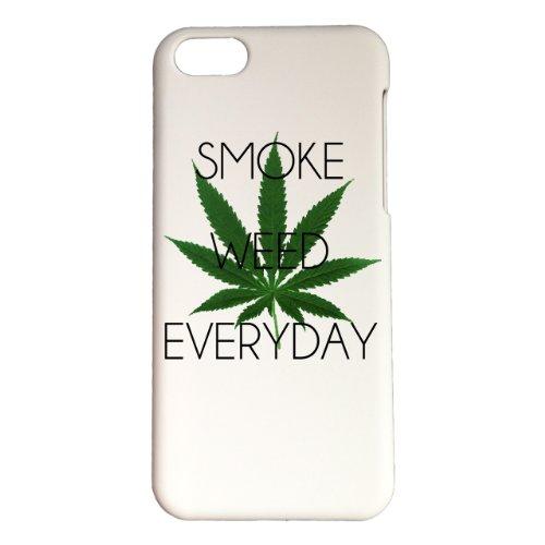 Cover di protezione personalizzabile in plastica–Apple–iPhone 5C–Smoke Weed Everyday–Colore: bianca