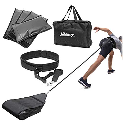 UBOWAY Fitness Geschirr Schlitten – Gewicht Widerstand Workout Training Schlitten für Speed Training