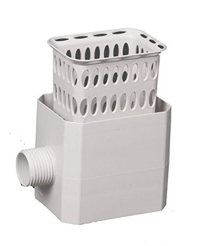 top 10 rain barrel diverters Flex-Drain 37043 Catch-A Raindrop Strainer, 3 x 4 inch, White