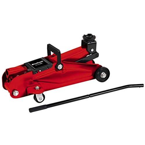 Einhell CC-TJ 2000 Cricchetto idraulico carrellabile (portata 2 t, altezza in. 13.5 cm, altezza max 33 cm)