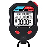 LEAP Stopwatch 100 Lap Professional Digital Sports Timer, Waterproof and Shockproof Stopwatch with Extra Large Number Display, Great for School Community or Personal, Track Field and Swim Events