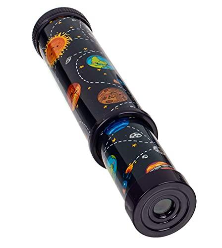 MIK Funshopping Caleidoscopio, asombra y experimenta con espejos, luces y colores, souvenir (mundo negro)