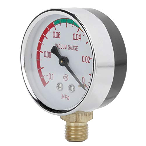 Velaurs Vakuum-Manometer, 4 Außengewindedruckmesser, für Aquakultur-Melkmaschine