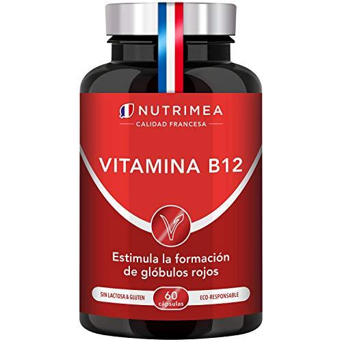 Vitamina B12 1000 mcg Vegano Cianocobalamina Cápsulas Vegetales Vitaminas B12 Complejo Vitamínico Natural Suministro Para 2 Meses