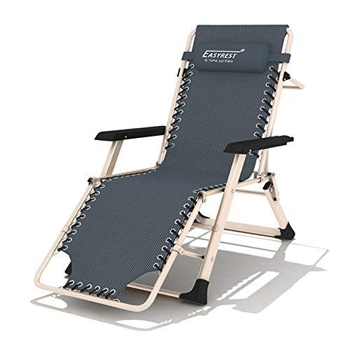 FUFU Sillas de salón para patio, silla plegable para el almuerzo, silla plegable, silla de verano para la siesta, silla de oficina, almuerzo, silla plana, 185 x 67 x 25 cm, duradera