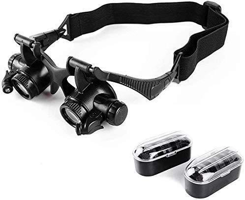 Tragbare Taoke beleuchtete HD-Fernglas Brillenkopf 10X 15X 20X 25X Multi Okular Schalter Uhr Instrument Reparatur Brille Lupe