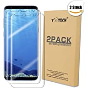 Galaxy S8+ Screen Protector [2-Pack][NOT Glass], Yootech LiQuidSkin Wet Applied Anti-Bubbles Samsung Galaxy S8 plus HD Clear Case Friendly Film - Lifetime Warranty[Galaxy S8 plus]