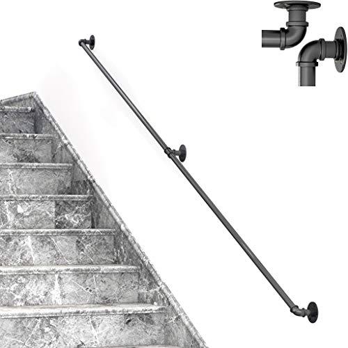 negro 3 soportes para barandilla de pared para bannister de montaje en pared//soporte 60 x 80 soportes de rieles de escalera de alta resistencia