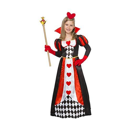 Disfraz de Reina Corazones con rombos para niña
