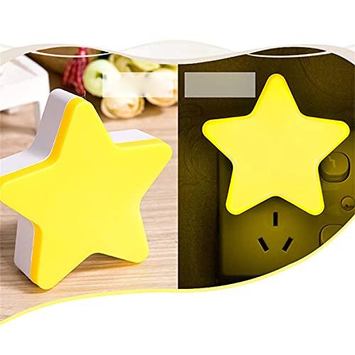 Sheey Luz de Noche con Forma de Estrella LED Luz de la Habitación Decoración Pasillo Luces Decorativas Iluminación, Decoración para Festival Fiesta Exterior Interior al Aire Libre