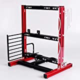 DIY Computer Motherboard Case Rack, Motherboard Chassis Set, Creative Personality ATX/M-ATX/ITX Open Air Frame Chassis Bracket , Vertical Overclocking Open Aluminum Frame Chassis Rack (Red