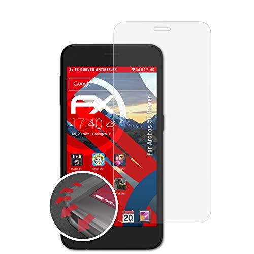 atFolix Schutzfolie kompatibel mit Archos 50 Power Folie, entspiegelnde & Flexible FX Bildschirmschutzfolie (3X)
