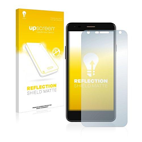upscreen Entspiegelungs-Schutzfolie kompatibel mit Wileyfox Spark X – Anti-Reflex Bildschirmschutz-Folie Matt