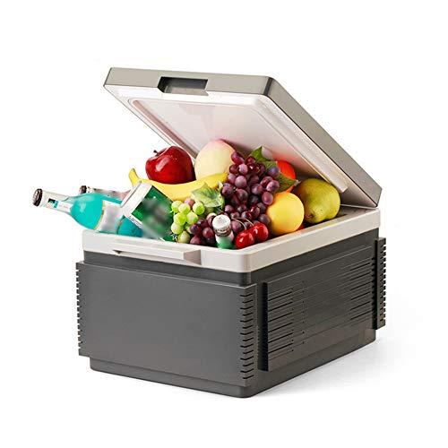 NCBH draagbare auto-koelkast, mini-verwarming, koelbox, ingebouwde accukoeler, dubbele kern, geschikt voor reizen, camping, grill, 12 l