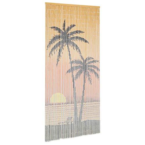 Tidyard Cortina de bambú para Puerta contra Insectos 90x200 cm