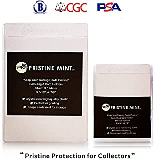 Pristine Mint Co. - 50 Count Premium Semi-Rigid Card Sleeves - Holders - Compatible with PSA, BGS, and CGC Grading Submiss...