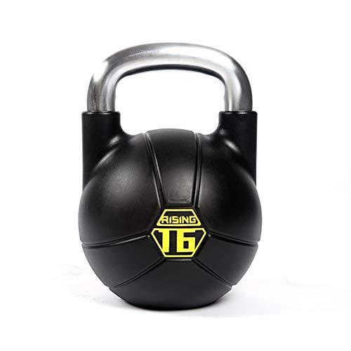 Kettlebells WXYZ 16kg / 35.2lbs Atlética Completamente De Acero Recubierta De Goma De Fitness Pesas Rusas, Espesado Base De Chapado Y Cómodo Manejo, Entrenamiento De Los Músculos 🔥