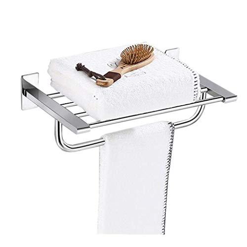 Dpliu-LY Toallero Acero Inoxidable de baño Toalla de Toallas Estante Colgante de Acero Inoxidable 304 de múltiples Funciones de Almacenamiento Gratuito de perforación de baño WC Balcón Estantes Baño