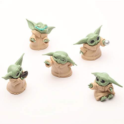 RANKSING Star Wars Yoda Toys Collection - Juguetes coleccionables para niños (2,2 pulgadas, 5 unidades)