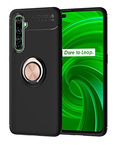SORAKA Hülle für Realme X50 Pro 5G mit 360 Grad drehbarem Ringständer Weiches Silikon Superdünn Schutzhülle mit Metallplatte für Handyhalterung Auto KFZ Magnet Stoßdämpfung Anti Fingerabdruck