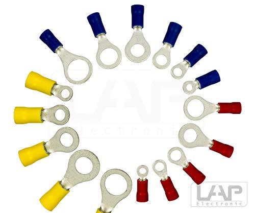 Ringkabelschuhe Ringösen DIN Kabelschuhe Verbinder (1,5-2,5mm² M8 Blau, 10 Stück)