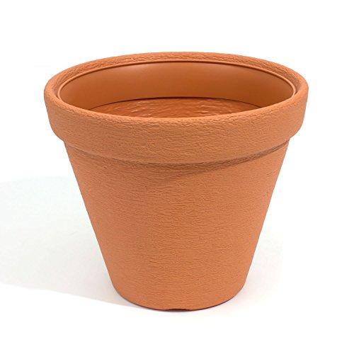 Vaso fioriera per piante serie Massive Classic diametro 35 cm, colore: terracotta