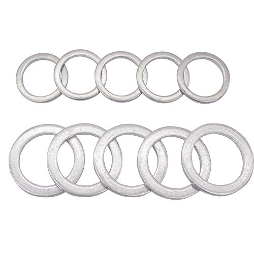 Rear Differential Fill and Drain Plug Gaskets Crush Washers Seals Rings Fits for Honda Accord Acura Civic Ridgeline Odyssey CRV CR-V Pilot Fit Element, Replaces for the Part# 94109-20000 90471-PX4-000