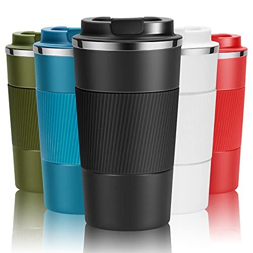 Travel Mug Reusable Coffee Cups 510ml/18oz Thermal Insulated Vacuum...