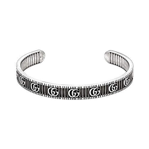 Gucci Silber GG Marmont Armband - Größe 18