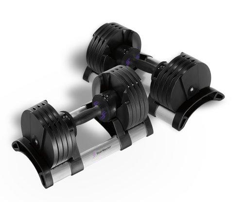 StairMaster Pair of TwistLock Adjustable Dumbbells