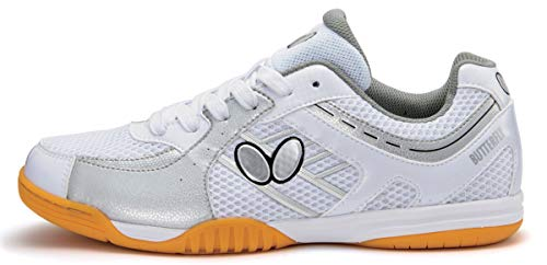 Butterfly Lezoline SAL Shoes – Breathable, Excellent Grip, Tournament Quality Table Tennis Shoes for Men or Women – Colors: Blue, Grey, Lime Green, Pink or White, 8